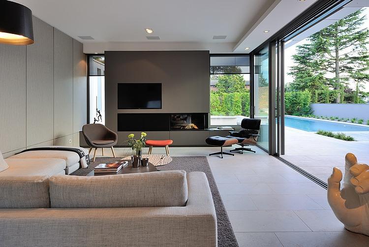 Villa wa by laurent guillaud lozanne architecte homeadore - Chimeneas minimalistas ...
