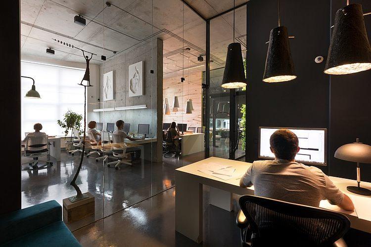 011 sergey makhnos office showroom homeadore. Black Bedroom Furniture Sets. Home Design Ideas