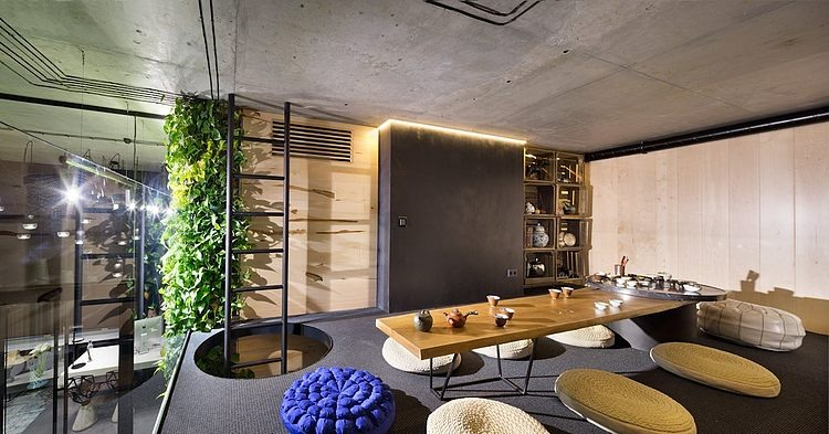 Sergey makhno s office and showroom homeadore for Architecture japonaise