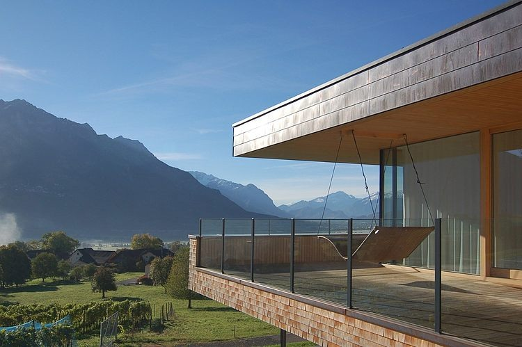 schaan residence by k m architektur homeadore. Black Bedroom Furniture Sets. Home Design Ideas