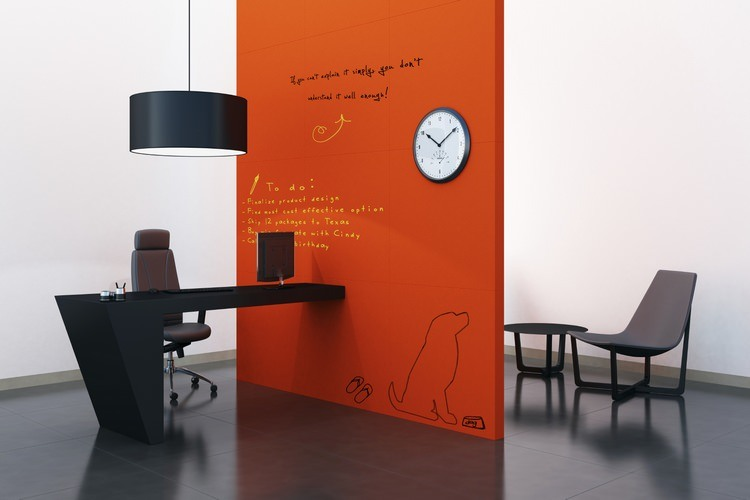 Colored Dry Erase Paint Wall