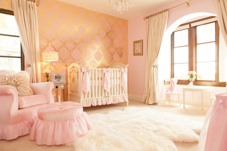 Pink and Gold Nursery by Little Crown Interiors