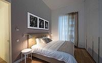 white & kaki bedroom