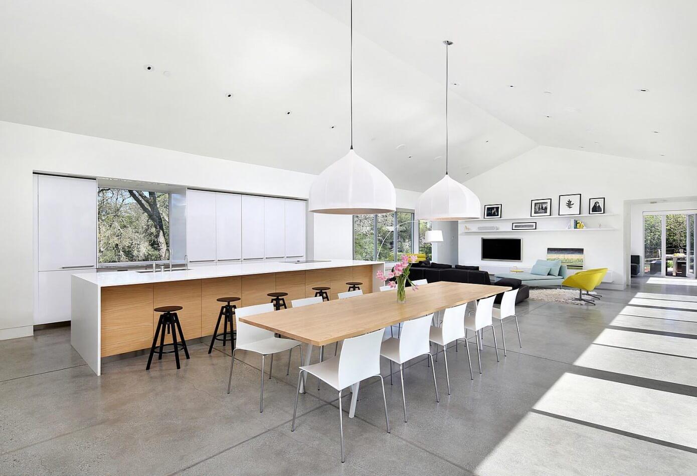 Hillside modern by zeroenergy design homeadore for Pinturas casas modernas interiores