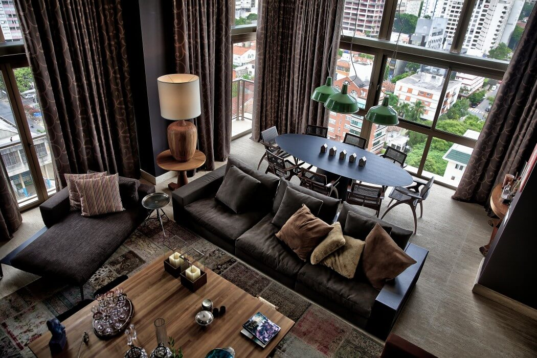 penthouse apartment by tellini vontobel arquitetura. Black Bedroom Furniture Sets. Home Design Ideas
