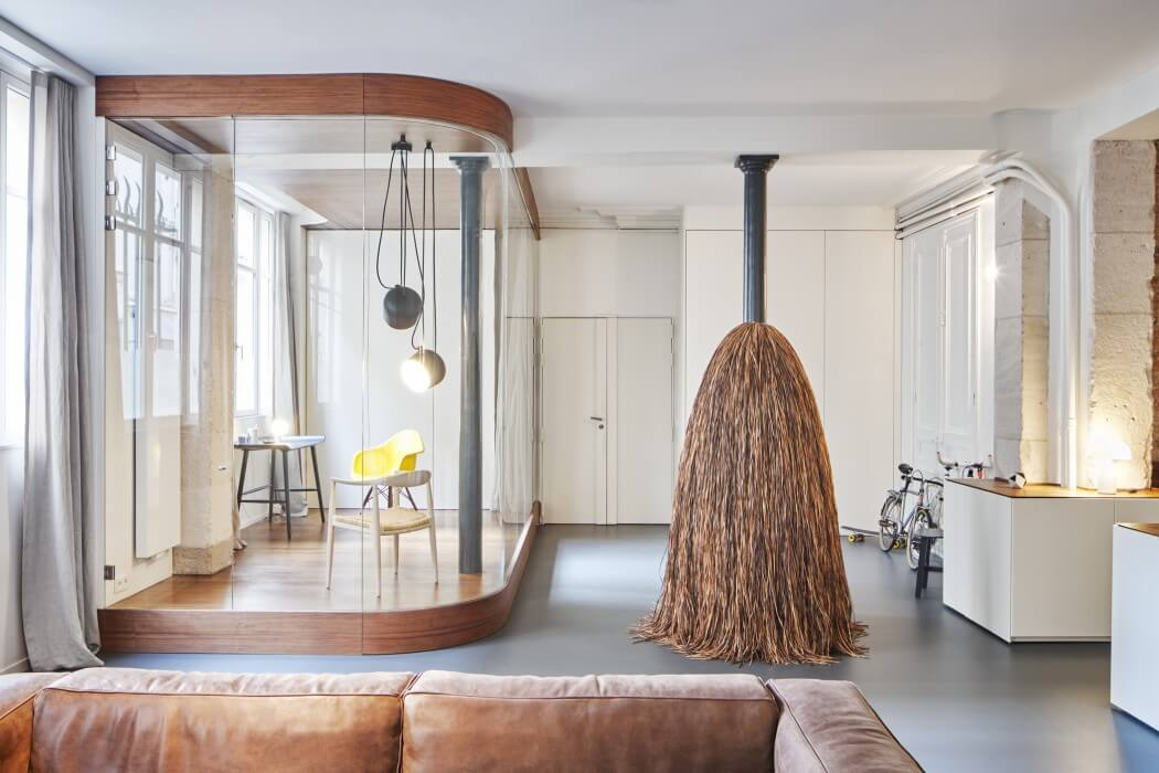 Glass & Walnut Loft by Cut Architectures