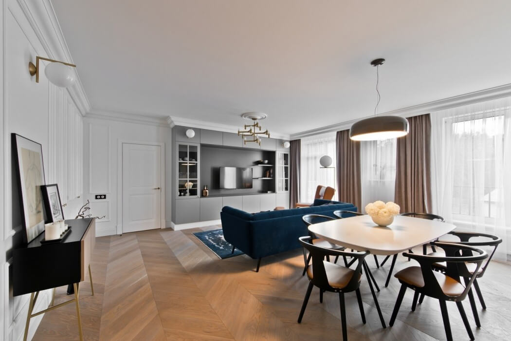 Apartment in vilnius by indre sunklodiene homeadore for Klassiek modern interieur