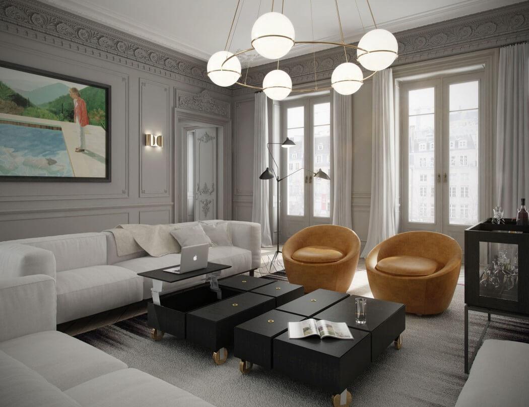 apartment in parisart buro | homeadore