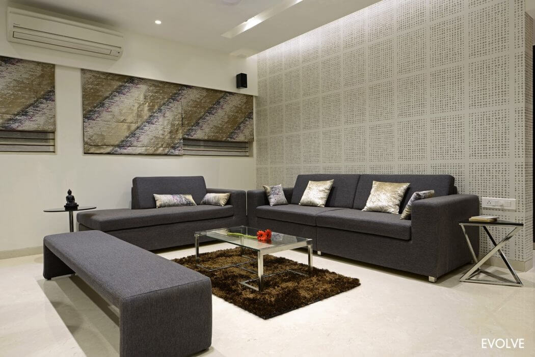 Living Room Furniture Mumbai luxury residence in mumbaievolve | homeadore