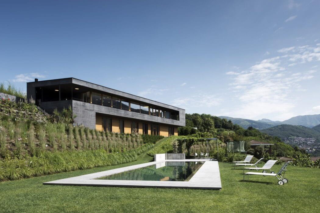 Villa in Lugano by Attilio Panzeri & Partners