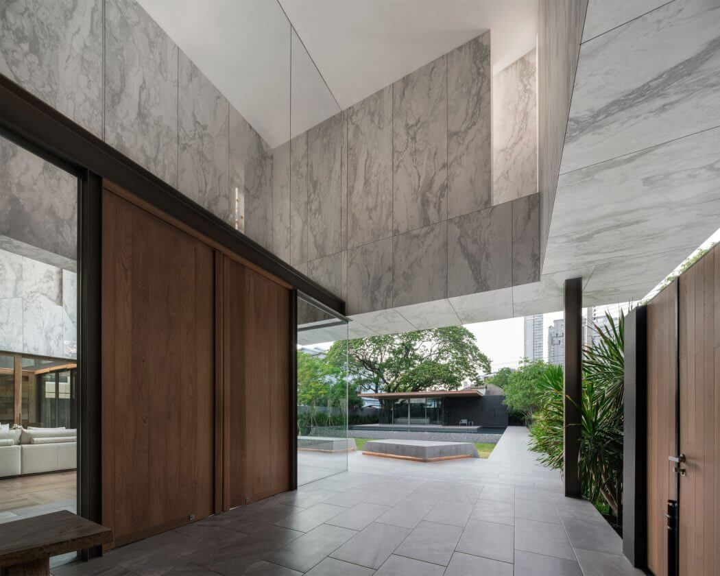 marble houseopenbox architects   homeadore