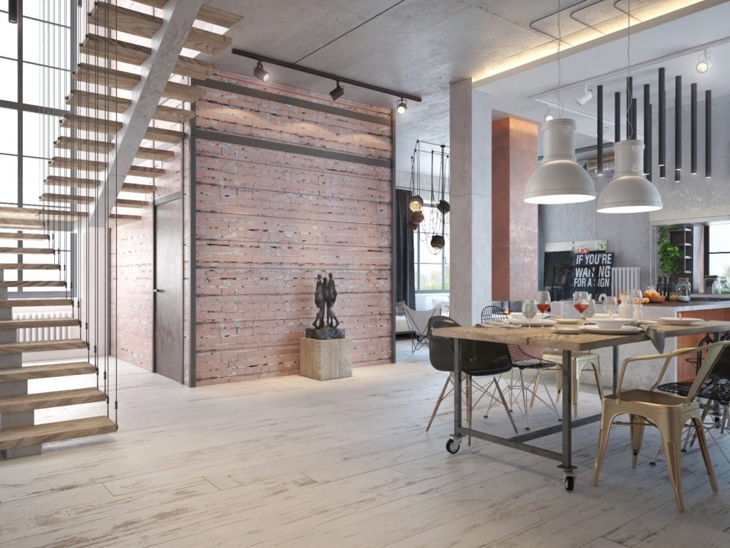 Awesome Industrial House Interior Images Best Idea Image Design - Industrial interior designs