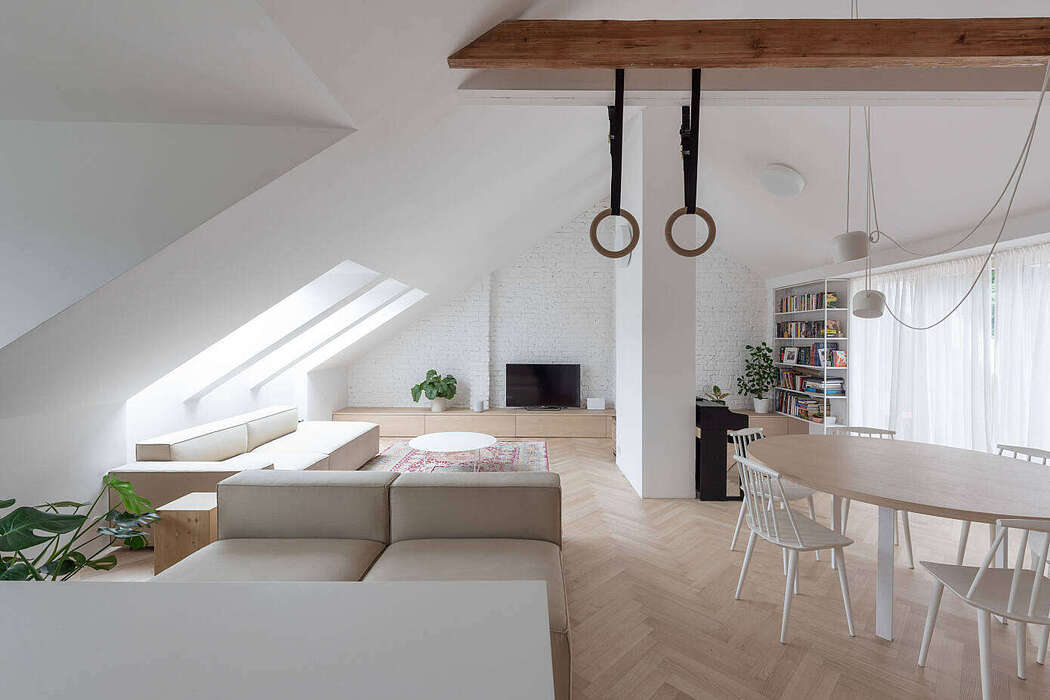 Attic Apartment by Kilo Honč