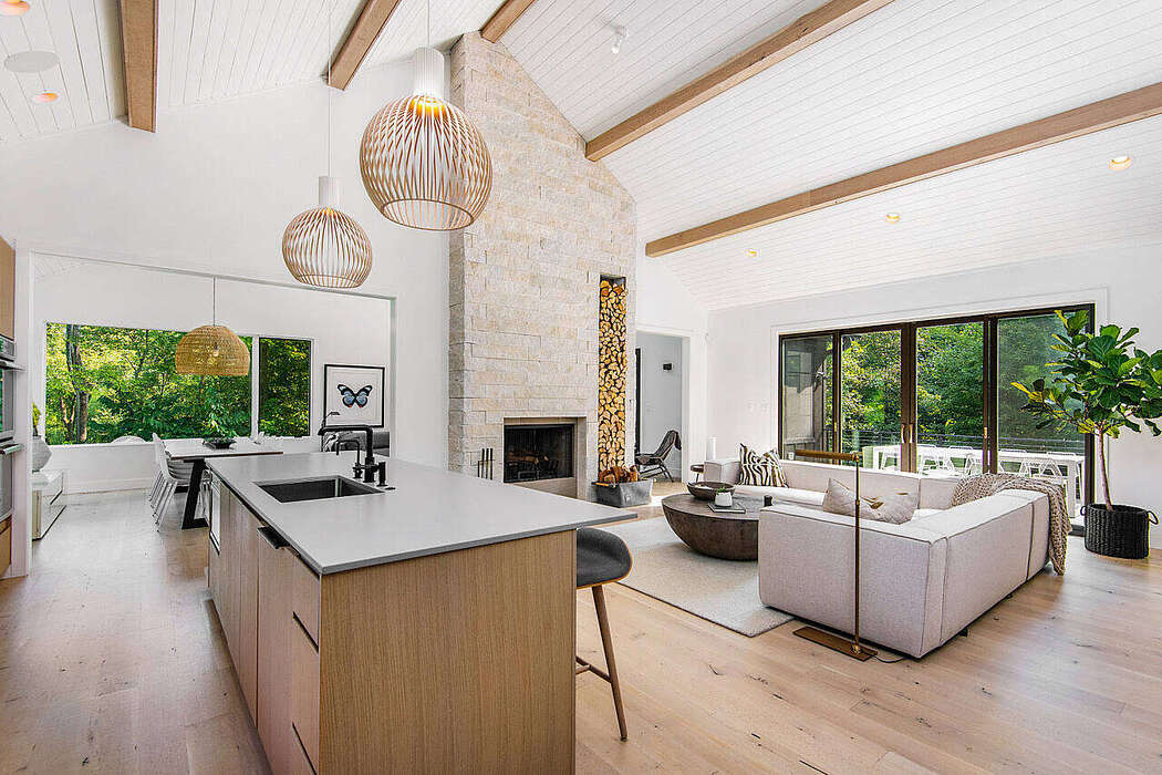 Black Modern Farmhouse by Linc Thelen Design