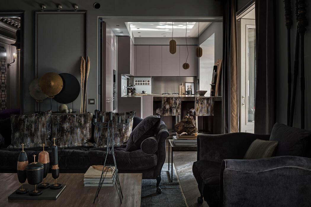Apartment in Kiev by Alexandrine Lukach